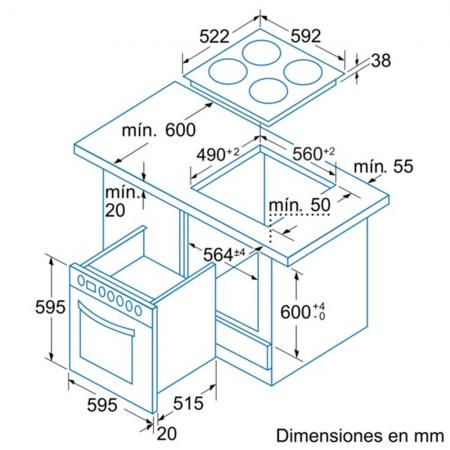 Balay 3EE725LS; Dimensiones 3EE725LS